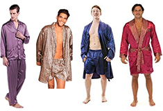 mens silky robes and sexy pajamas